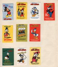 Vintage 22 Walt Disney old labels 2 pages Mickey Pluto etc #089